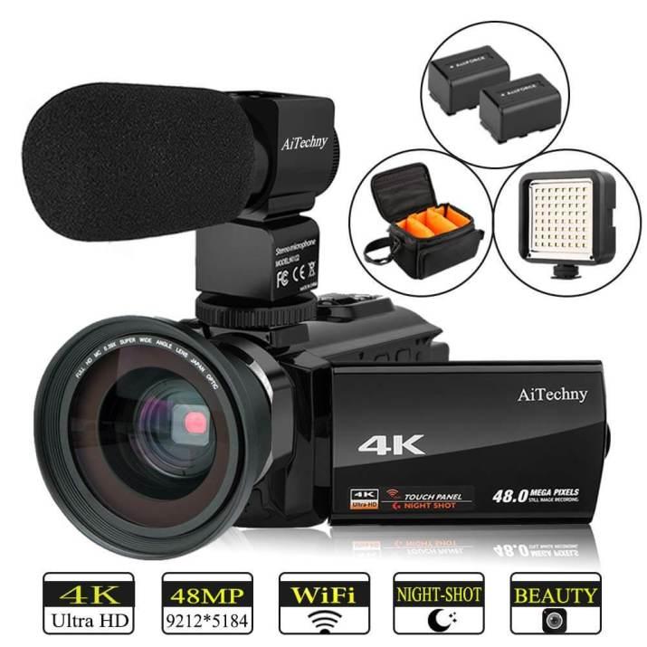 4K camcorder AiTechny Ultra HD Digital WiFi camera