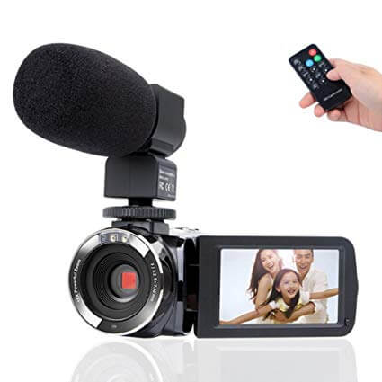 Camcorder Camera,Kimire HD 1080P Camera With Microphone