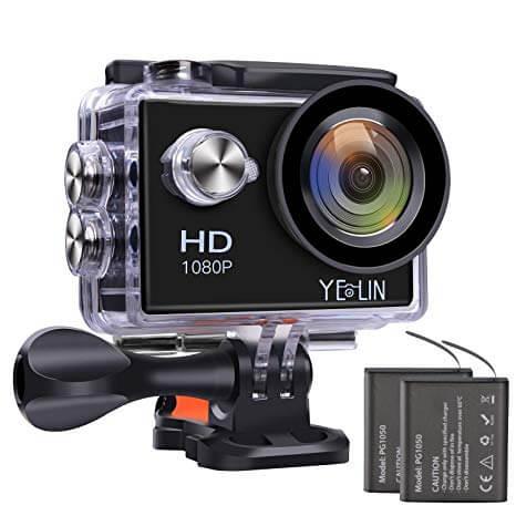 YELIN 1080P Full HD 2.0 inch LCD Screen Waterproof Sports Action Camera Cam DV 5MP DVR Helmet Camera Sports DV Camcorder