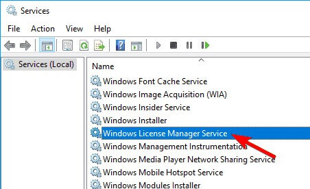 Window Lincense manager service