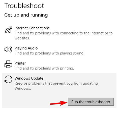 troubleshoot folder
