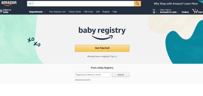 Amazon's baby Registry Service