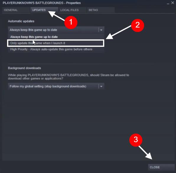 change steam update settings