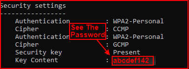 see password of connected wifi windows 10