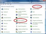 Power options Windows 7