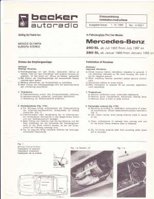 Pagoda SL Group Technical Manual :: Electrical  Radio