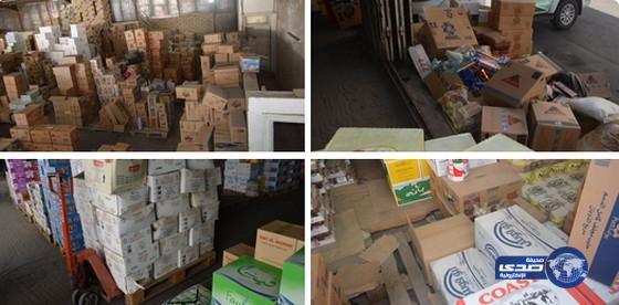 """""""التجارة"""" تمنع بيع وتسويق أكثر من 40 ألف سلعة غذائية فاسدة في الطائف"""