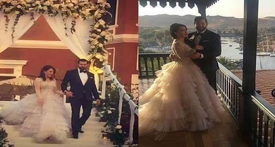 بالصور..اطلالة مثيرة لكندة علوش بفستان زفافها الثاني