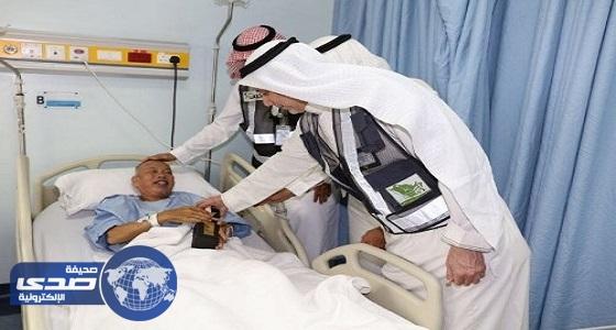 نائب مطوفي الدول العربية ومدير الحجاج يزوران 25 حاجاً بمستشفى الششة
