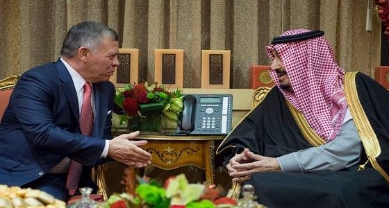 خادم الحرمين الشريفين يستقبل ملك الأردن