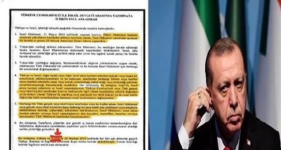 التليفزيون العبري يفضح أردوغان ويعرض مستند يؤكد قبوله بالقدس كاملة عاصمة لإسرائيل