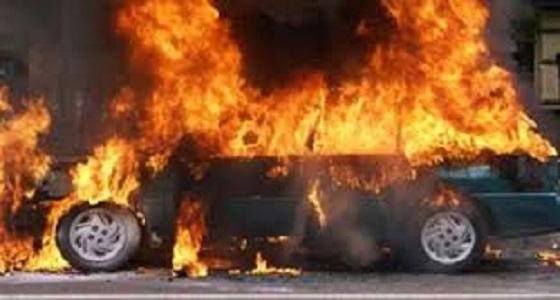 اندلاع حريق في حوش سيارات بجدة