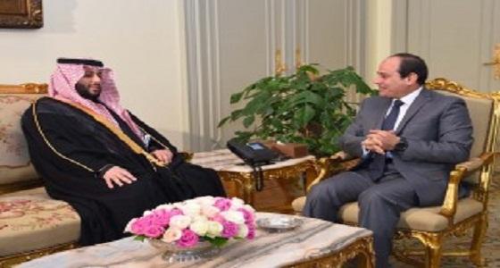 """خلال لقائه رئيس مصر.. """" آل الشيخ """" يؤكد حرص المملكة على التعاون المشترك"""