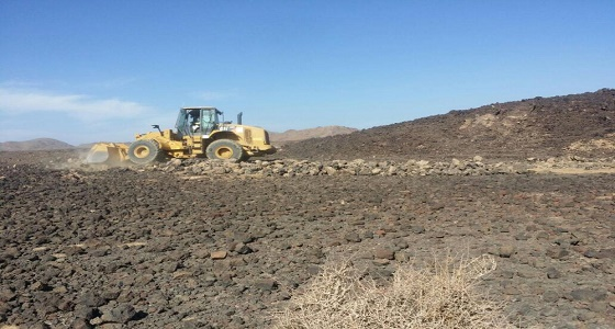 """إزالة 30 ألف متر تعديات على الأراضي الحكومية بـ """" حرة الشبحة """""""
