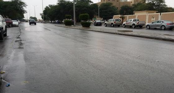 هطول أمطار غزيرة على القصيم