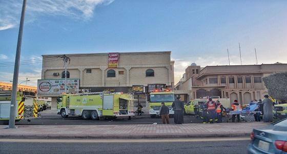 مدني حائل يكشف سبب حريق حي المنتزه