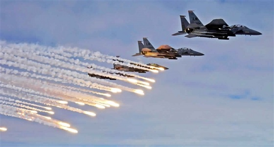 غارات لمقاتلات التحالف تدمر مخزن أسلحة تابع لمليشيا الحوثي بالجوف اليمنية