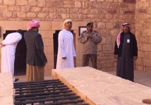 بالفيديو و الصور.. ولي عهد أبوظبي في المنطقة الأثرية ومدائن صالح بالعلا