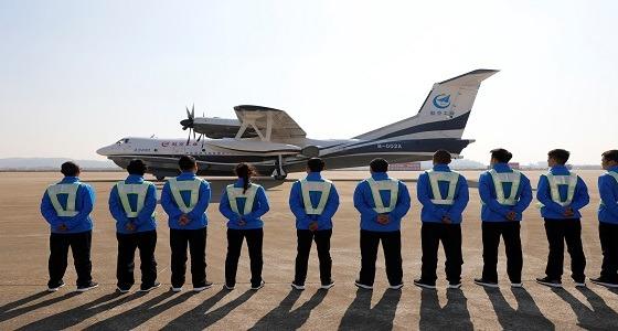 اختبار أكبر طائرة صينية برمائية في العالم