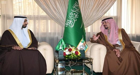 وزير الحرس الوطني يستقبل سفير الإمارات لدى المملكة