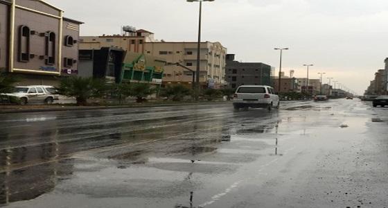 هطول أمطار على تبوك