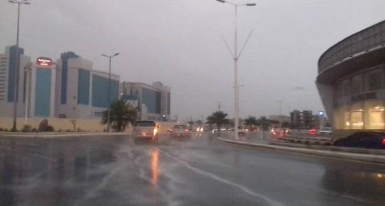 أمطار غزيرة على محافظة حقل