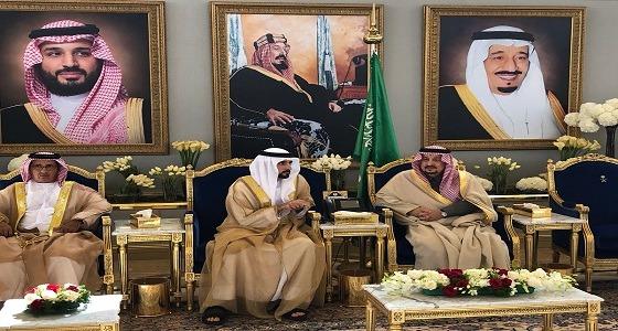 """أمير الرياض يستقبل ولي عهد دبي """" حمدان بن راشد """""""