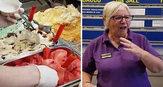 """متجر مثلجات يبتكر آيس كريم """" للكبار فقط """""""