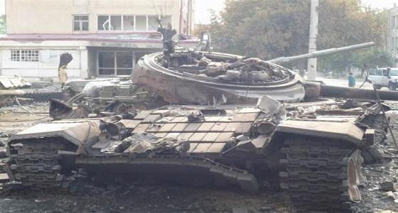 تدمير دبابة روسية في سوريا باستخدام طائرة أمريكية بدون طيار
