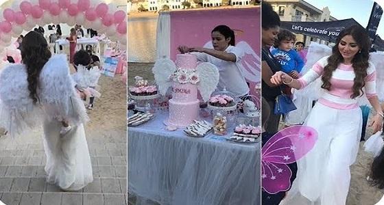"""بالفيديو.. حفل أسطوري لعيد ميلاد ابنة مريم حسين """" أميرة الفيصل """""""