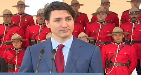 """بالفيديو.. عسكريون كنديون يصابون بالإغماء أثناء كلمة """" ترودو """""""