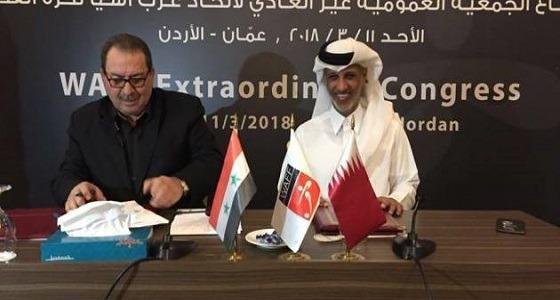 المسؤول السوري الذي وقع اتفاقية مع قطر يفجر مفاجأة مثيرة