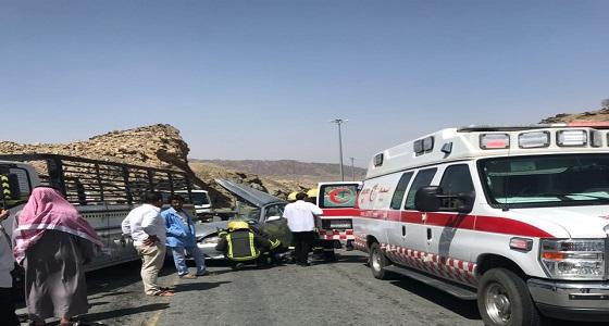 بالصور.. طرق الباحة تشهد 6 حوادث مرورية متفرقة