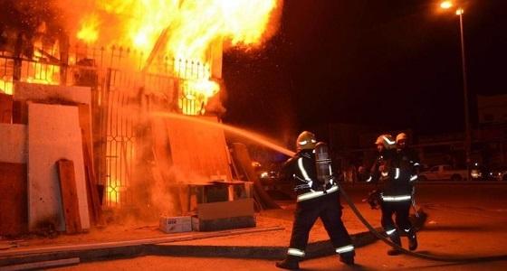 تسرب مادة بترولية تشعل النيران إثر تماس كهربائي بمكة