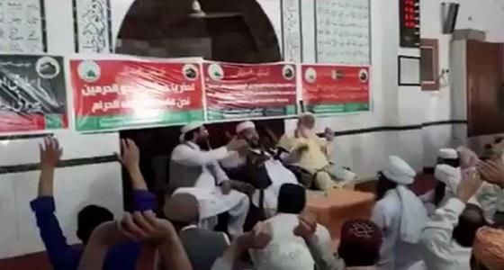 """بالفيديو.. مصلون في باكستان يهتفون: """" لبيك لبيك السعودية """""""