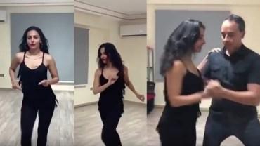 بالفيديو.. ميس حمدان ترقص السالسا بإحترافية