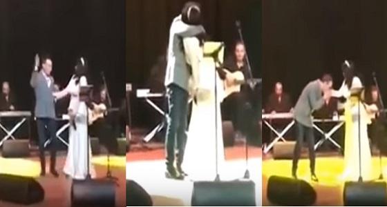 بالفيديو.. قبلات وأحضان شيرين وحسام حبيب في أول غناء مشترك بعد الزواج