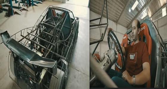 بالفيديو.. موظف بالشؤون الصحية يسعى لتصنيع سيارة رياضية سعودية