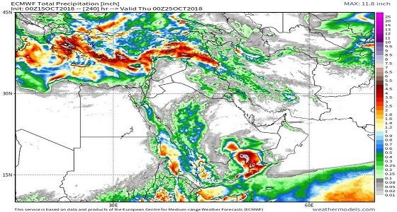 الأحمدي: توقعات بأمطار غزيرة مصحوبة بالبرد غدًا