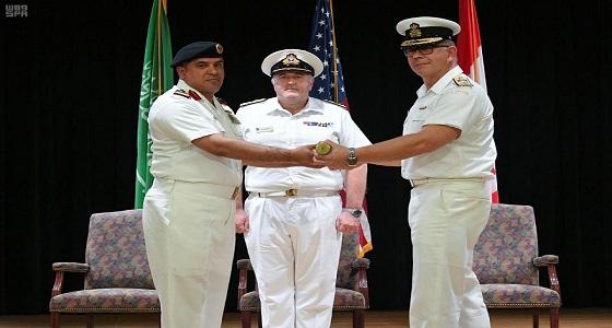 """القوات البحرية الملكية السعودية تسلم مهام قيادة قوة الواجب المختلطة """" 150 """" للفريق الكندي في مملكة البحرين"""