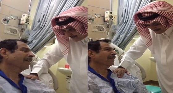 بالفيديو.. باهبري مع زميله فهد الشايع في المستشفى بعد انقطاع 20 عاما
