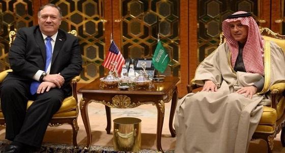 """"""" الجبير """" يكشف تفاصيل المباحثات مع وزير الخارجية الأمريكي"""