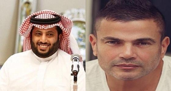 """"""" مفيش مهم """" .. تركي آل الشيخ ينشر كلمات أجدد أغنية لعمرو دياب"""