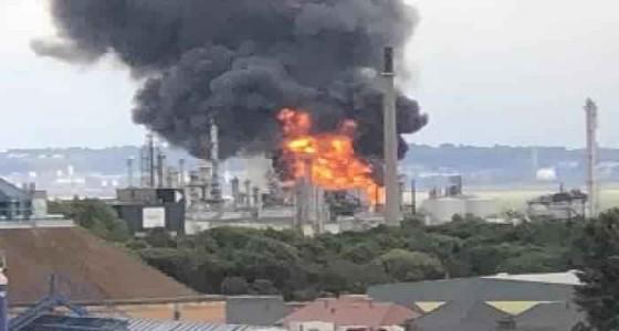 انفجار منصة نفط إيرانية بمنطقة عسلوية على الخليج