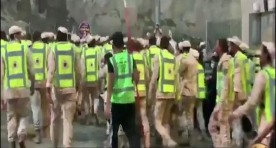بالفيديو.. همة عالية لرجال الأمن: يا الله يا والي تنصر ملكنا