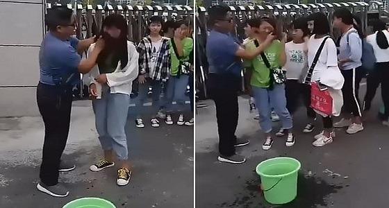 بالفيديو.. مدرس يعاقب طالباته لوضعهن المكياج أثناء الدراسة بطريقة غريبة