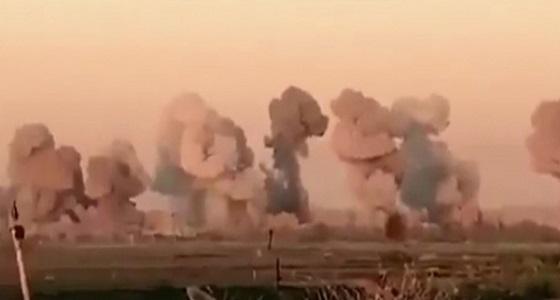 """صورة أولية تكشف ما حدث لـ """" جزيرة الدواعش """" بعد تفجيرها بـ36 طن قنابل"""
