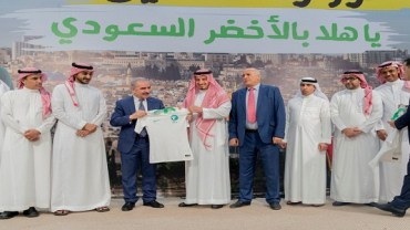 الرئاسة الفلسطينية تحتفي ببعثة الأخضر في رام الله
