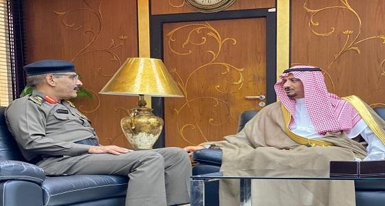 مدير شرطة الرياض يلتقي بمكتبه فضيلة رئيس فرع النيابة العامة