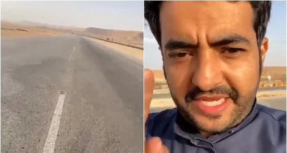 بالفيديو.. «مسامير» وسط الطريق كادت أن تقتل مواطن أثناء القيادة